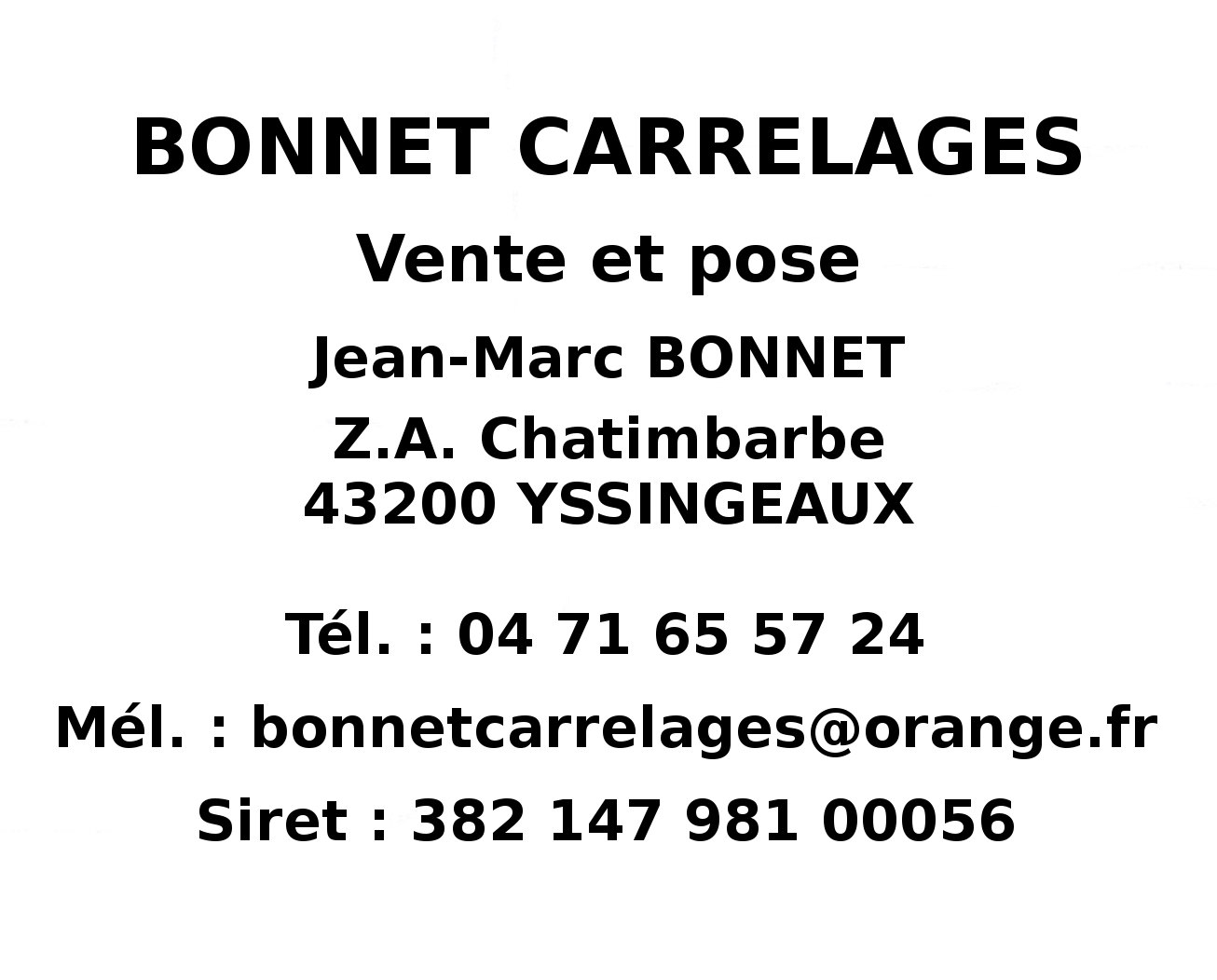Bonnet Carrelages